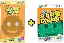 Scrub Daddy Sponge + Daddy Caddy Bundle (Green)