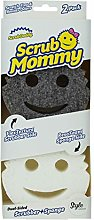Scrub Mommy Style Collection Grey Scrubber - 2 Pack