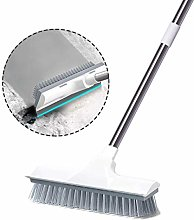 Scrubber with Squeegee, Adjustable Handle Scrubber