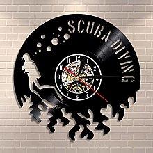 Scuba Diving Wall Clock Gift For Scuba Divers