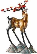 Sculpture Statue Collectible Figurines Copper Deer