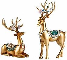 Sculpture Statue Collectible Figurines Simple deer