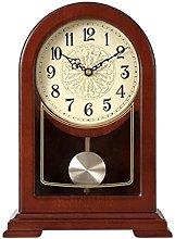 Sculpture Statue,Pendulum Clock Mute Wooden Clock