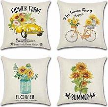 SCVBLJS Cushion covers Summer sun flower cushion