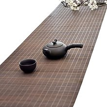 SDFVSDF Bamboo Table Runner 183x30cm, Brown