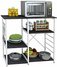 SDHYL Kitchen Storage Trolleys Microwave Oven Rack