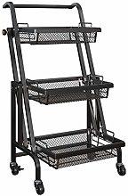 SDKFJ Storage Trolleys Utility Carts 3 Tier