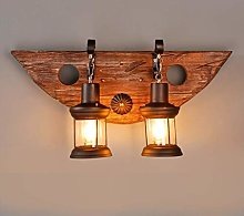 SDKFJ Wall Lamps & Sconces Wooden Bracket Lights