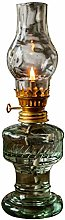 SDPYY Glass Kerosene lamp,Retro Transparent