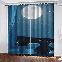 SDSONIU Bedroom 3D Insulated Curtain 79 X 63 Inch