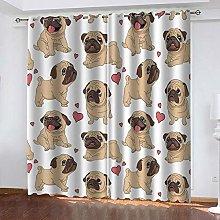 SDSONIU Curtain 104 X 84 Inch Anime Animal Dog