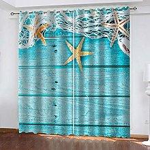 SDSONIU Curtain 118 X 106 Inch Creative Starfish