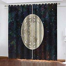 SDSONIU Curtain 56 X 40 Inch Creative Starry Sky