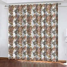 SDSONIU Curtain 79 X 63 Inch Creative Flower Art