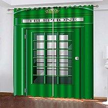 SDSONIU Curtain 79 X 63 Inch Creative Green Door