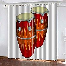 SDSONIU Curtain 86 X 87 Inch Creative Gongs And