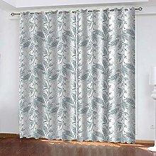 SDSONIU Curtain 86 X 87 Inch Creative Leaf Art