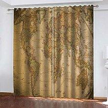 SDSONIU Decoration Curtains 104 X 84 Inch Vintage