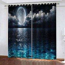 SDSONIU Decoration Curtains 79 X 63 Inch Night Sky