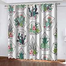 SDSONIU Eyelet Curtains 86 X 87 Inch Painted