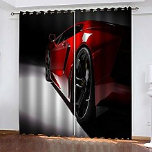 SDSONIU Eyelets Curtains 56 X 63 Inch Red Sports