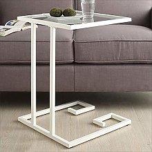 SDWCWH Home Standing Table,Iron Glass Coffee