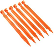"SE 93NRC612 12"" ABS Tent T-Pegs, Orange (Pack"