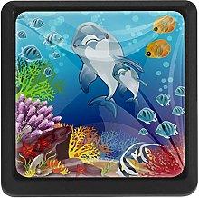 Sea Dolphin Fish, 3 Pcs Crystal Class Cabinet