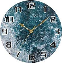 Sea Marine Beach Wall Clock Silent Non Ticking,