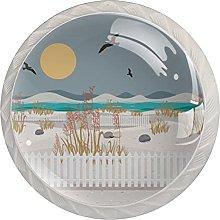 Sea Oats Landscape, Modern Minimalist Printing