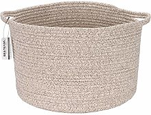 Sea Team Oval Cotton Rope Woven Storage Basket