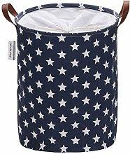 Sea Team Star Pattern Laundry Hamper Canvas Fabric