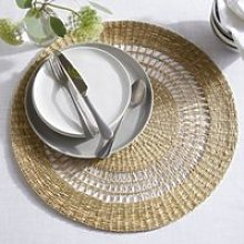 Seagrass Extra-Large Table Mat, Natural, One Size