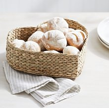 Seagrass Heart Bread Basket, Natural, One Size