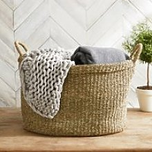 Seagrass Large Oval Basket, Natural, One Size
