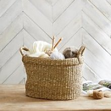 Seagrass Small Oval Basket, Natural, One Size