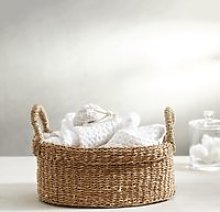 Seagrass Small Oval Basket , Natural, One Size