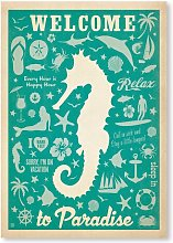 Seahorse Pattern Print by Anderson Design Group