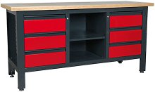 Sealey AP1905D Workstation with 6 Drawers & Open