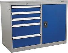 Sealey API1103B 5 Drawer & 1 Shelf Industrial