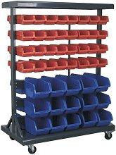 Sealey Mobile Bin Storage System with 94 Bins