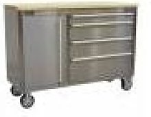 Sealey Mobile Stainless Steel Tool Cabinet 4 Drawer