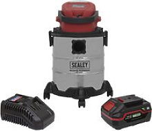 Sealey PC20VCOMBO4 Vacuum Cleaner 20L Wet & Dry