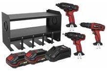 Sealey PTSR520V 20V Power Tool Storage Rack 3 Tool