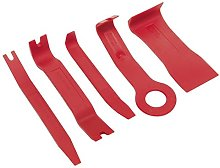 Sealey RT/KIT 5pc Trim & Upholstery Tool Set, Red,