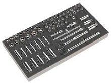 Sealey S01120 Tool Tray with Socket Set 62pc