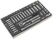Sealey S01122 Tool Tray with Socket Set 62pc