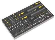 Sealey S01132 Tool Tray with Tap & Die, File &