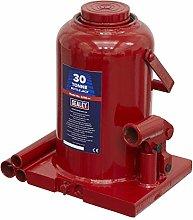 Sealey SJ30 Bottle Jack, 30Tonne Capacity, Red