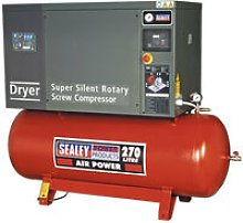 Sealey SSC12710D 270ltr Low Noise Screw Compressor